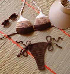 biquíni de crochê com bojo - praia atelie izielle