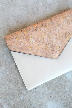 Bone Cork Envelope Clutch from Page 6 Boutique