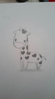 That's one of my drawings, a little cute giraffe ♡