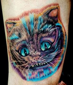 Gothic Alice In Wonderland Tattoo Flash Ink Art Tattoo Butterfly Sleeve Tattoo, Flower Tattoo Back, Cheshire Cat Tattoo, Chesire Cat, Cat Portrait Tattoos, Body Art Tattoos, Pet Tattoos, John Tenniel, Lewis Carroll