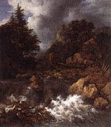 "New artwork for sale! - "" Ruisdael Jacob Isaackszon Van Waterfall In A Mountainous Northern Landscape by Jacob van Ruisdael "" - http://ift.tt/2pGt4Sq"