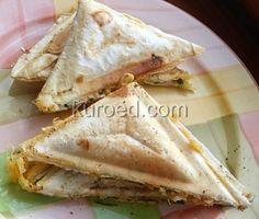 Сэндвичи из лаваша с сыром и зеленью