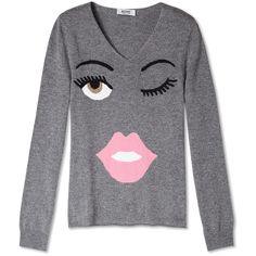 Ha! Fashion is about having fun! Loving this cashmere knit!