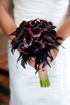 #Burgundy #Calla #Lily #Wedding #Bouquet #Ideas … Wedding ideas for brides, grooms, parents & planners https://itunes.apple.com/us/app/the-gold-wedding-planner/id498112599?ls=1=8 … plus how to organise an entire wedding, within your budget http://pinterest.com/groomsandbrides/boards/ ♥ The Gold Wedding Planner iPhone #App ♥ For more boards #wedding #ceremony #reception #bouquets #pastel # lemon #neutral # lavender #mint #pale blue