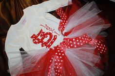 St Louis Cardinals Red and White Polka Dot Applique by jscho31, $50.00