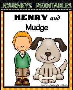 Henry and Mudge Journeys Reading Series, Writing Complete Sentences, Reading Stations, Reading Street, 2nd Grade Reading, Teacher Newsletter, Booklet, Worksheets, Homeschool