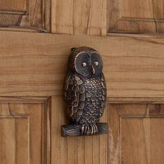 Owl Brass Door Knocker