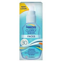 Lot-of-3-Coppertone-ClearlySheer-Faces-Sunscreen-Lotion-SPF-30-2-oz