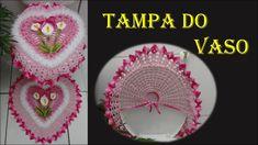 Jogo de Banheiro Coração Tampa do Vaso # Wilma Crochê