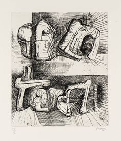 Henry Moore OM, CH 'Two Reclining Figures', 1970–2 © The Henry Moore Foundation, All Rights Reserved, DACS 2014