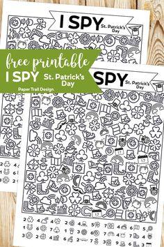 Free Printable I Spy St. Patrick's Day Activity - Paper Trail Design