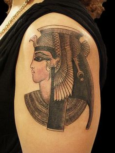 Cleopatra - I should have this since my nickname is Cleopatra - Queen of De-Nial! Cleopatra Tattoo, Egyptian Tattoo, Tattoo Inspiration, Find Art, Storytelling, Cool Tattoos, Tatting, Body Art, Piercings