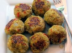 Quinoa Meatless Meatballs- these are awesome.