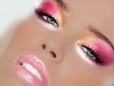 shimmery pink and gold eyeshadow