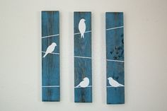 Hey, I found this really awesome Etsy listing at https://www.etsy.com/listing/199030822/rustic-wall-decor-birds-on-a-wire-3