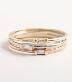 Catbird::Catbird Jewelry::Diamond Baguette Ring