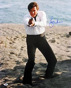 Roger Moore James Bond 007 Signed Authentic 16X20 Photo Autographed PSA/DNA @ niftywarehouse.com #NiftyWarehouse #Geek #Fun #Entertainment #Products