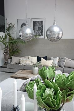 Svenngården: Our living room - right now