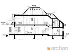 Dom w werbenach 3 Modern House Design, Floor Plans, American Houses, Modern, Modern Home Design, Floor Plan Drawing, House Floor Plans, Contemporary Home Design