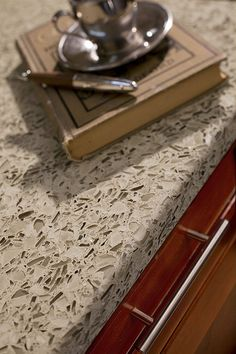 Vertrazzo recycled glass kitchen counter top, something different from granite!