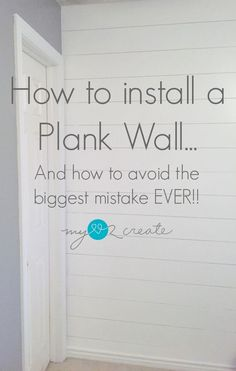 From My Love 2 CreateHow to install a plank wall…and how to avoid the biggest mistake EVER! From My Love 2 CreateHow to install a plank wall…and how to avoid the biggest mistake EVER! Diy Wand, Ideas Prácticas, Cool Ideas, Decor Ideas, Decorating Ideas, Interior Decorating, Home Renovation, Home Remodeling, Farmhouse Renovation