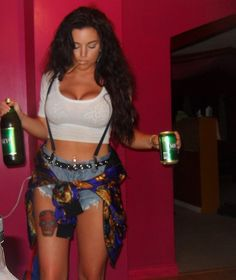 #beer #grunge #smoking #tattoo #thigh tattoo #40s #mickeys beer #cigar #food #drink #womendrinkingbeer