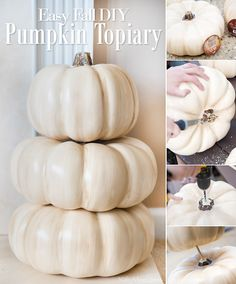 To get ready for the fall entertaining season, today let's talk about easy fall mantel decor ideas to welcome guests during the holiday season. Thanksgiving Decorations Outdoor, Thanksgiving Diy, Fall Mantel Decorations, Pumpkin Topiary, Diy Pumpkin, Diy Home Decor On A Budget, Fall Home Decor, Dollar Store Halloween, Amazing Decor