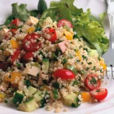 quinoa and smoked tofu salad