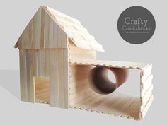 Hamster Barn House with Side Tube and Tunnel by CraftyCrookshanks - Animal Photos Habitat Du Hamster, Hamster Life, Hamster Cages, Syrian Hamster, Dwarf Hamster Toys, Hamster Breeds, Pig Breeds, Hamster Stuff, Chinchillas
