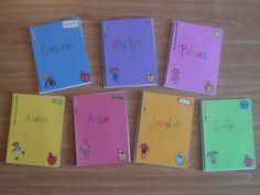 perfect end of school year gift to encourage writing over the summer... decorate cover with students favorite color, write their name in funky letters and add stickers... inside include a note and some story starters