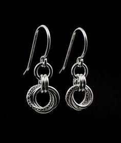 Argentium Sterling Silver Earrings - Little Cuties with a Little Twist