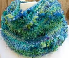 Image result for knitting with art yarns