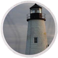 #lighthouse Round Beach Towel pixels.com