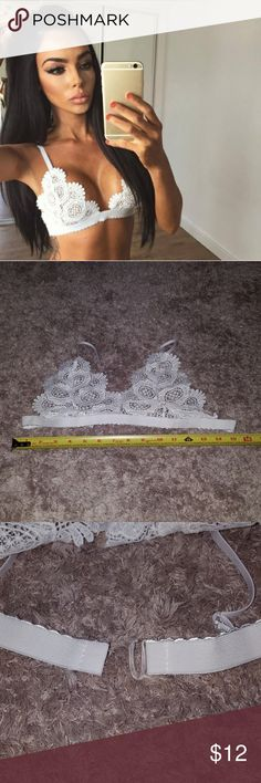 💗JUST ARRIVED💗Medium white lace bra! NWT. Medium white lace bra. See pictures for approximate measurements. Intimates & Sleepwear Bras