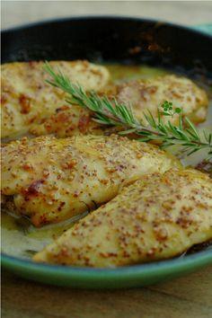 Blancs de poulet marinés moutarde & miel