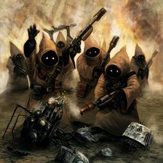 Star Wars Art: One of the Best Jawa Scenes I have seen.