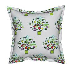 Starry Christmas/white Pillow by menny | Roostery Home Decor