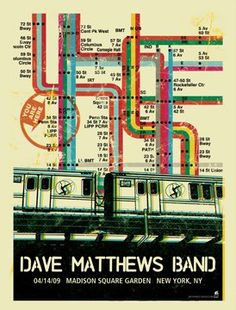 Dave Matthews Band Posters 4-14-2009 madison Square Garden, New York, NY