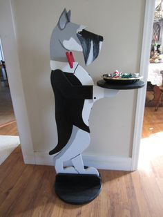 My Schnauzer Butler Table. Cool! @I Love Schnauzers!