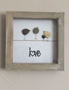 Love birds collection pebble art by Picgalore on Etsy