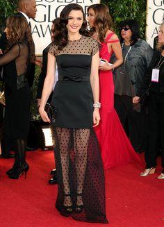 Rachel Weisz in LBD at Golden Globes 2013