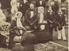 "1857 At the Manchester Exhibition of Art. from l to r-Queen Victoria, Prince Albert, Princess Royal Victoria, ""Bertie"", and Alfred Queen Victoria Family, Queen Victoria Prince Albert, Victoria And Albert, Princess Victoria, Princess Mary, Victorian Photography, Royal Photography, Royal Queen, Queen Mary"