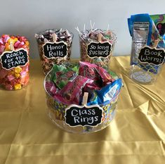 14 Graduation Party Dessert Ideas That Will Match Your Party's Theme - Cassidy Lucille Graduation Party Desserts, Graduation Party Planning, Graduation Party Themes, College Graduation Parties, Graduation Celebration, Grad Parties, Graduation Table Decorations, Graduation Centerpiece, Pre School Graduation Ideas