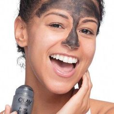 Olay Pore Detox Black Charcoal Clay Face Mask Stick Facial Cleanser - 1.7oz #AntiAgingMask Black Charcoal Face Mask, Charcoal Mask Benefits, Charcoal Mask Peel, Homemade Acne Treatment, Face Mask For Blackheads, Clay Face Mask, Clay Faces, Skin Mask, Face Skin