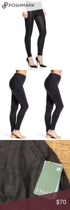 Lysse Faux Snakeskin & Vegan Suede Leggings The most amazing leggings! Built in control top! NWT!! Lysse Pants Leggings