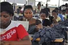 The importance of AGOA to Africa's apparel industry. read up here: http://www.africafashionguide.com/2012/06/agoa-forum-2012-expiration-of-third-country-fabric-examption-threatens-gains/  image of apparel workers - image courtesy West Africa Trade Hub