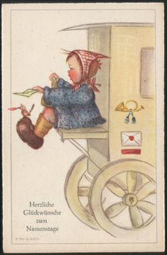 Künstlerkarte - sign. F. Probst ( K01248 ), Briefmarken-Versand-Welt - Briefmarken, Ansichtskarten und mehr
