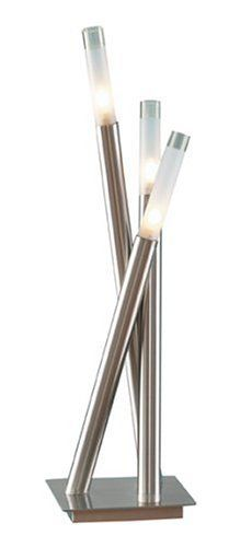 LSH-Icicle TBL Icicle Contemporary Chrome Table Lamp by LumiSource. $59.69. Cylindrical frosted sconces create a soft glow, accenting the modern designs of the tubular chrome arms on the futuristic lamps.