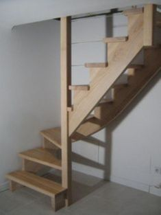 32 trendy home design plans loft stairs Small Space Staircase, Loft Staircase, Attic Stairs, Attic Loft, Home Stairs Design, Interior Stairs, Home Design Plans, House Design, Garage Stairs