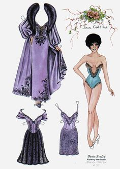 Bente Fredso paper doll of Joan Collins 1